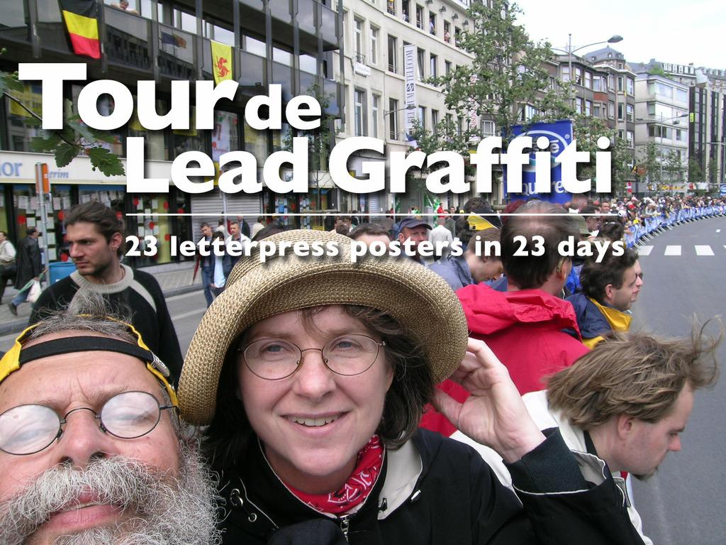 Tour de Lead Graffiti (23 letterpress cycling posters)'s video poster