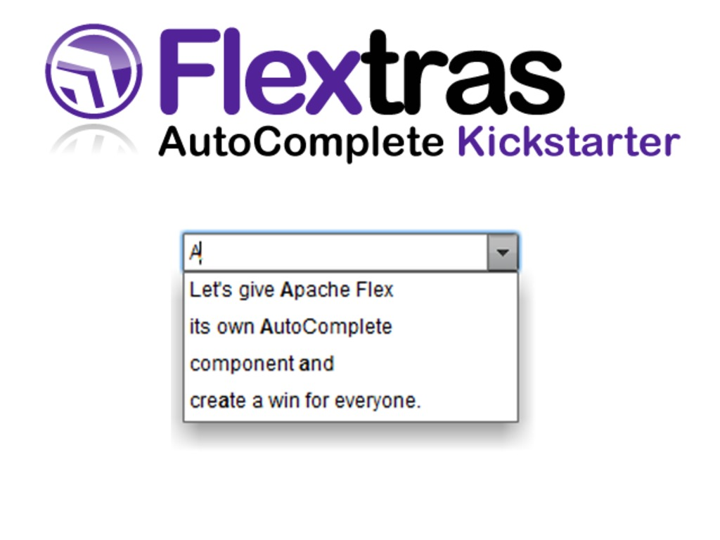 Help me Build an AutoComplete for Apache Flex's video poster