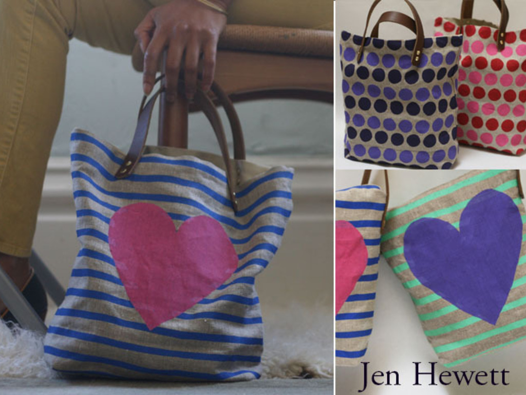 Jen Hewett Studio's Linen and Leather Bags Collection!'s video poster