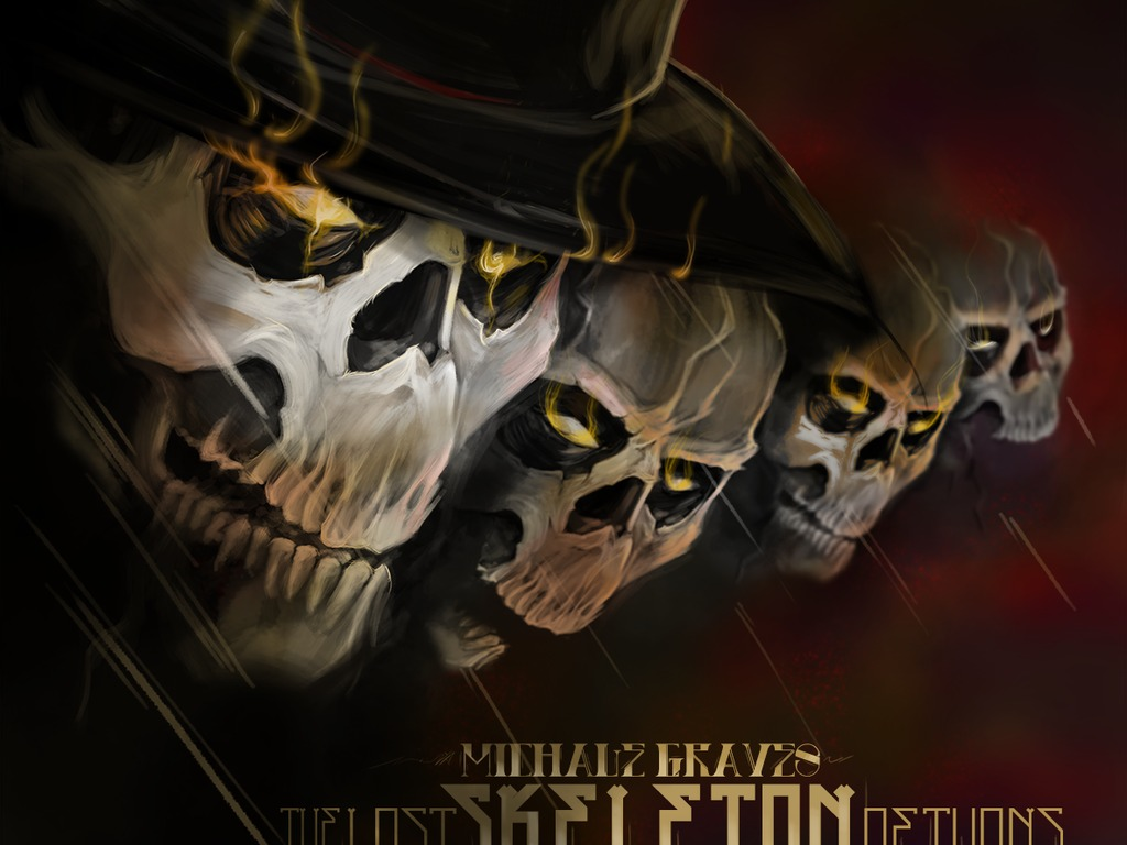 """Michale Graves """"Lost Skeleton Returns"""" Monster Rock LTD CD's video poster"""