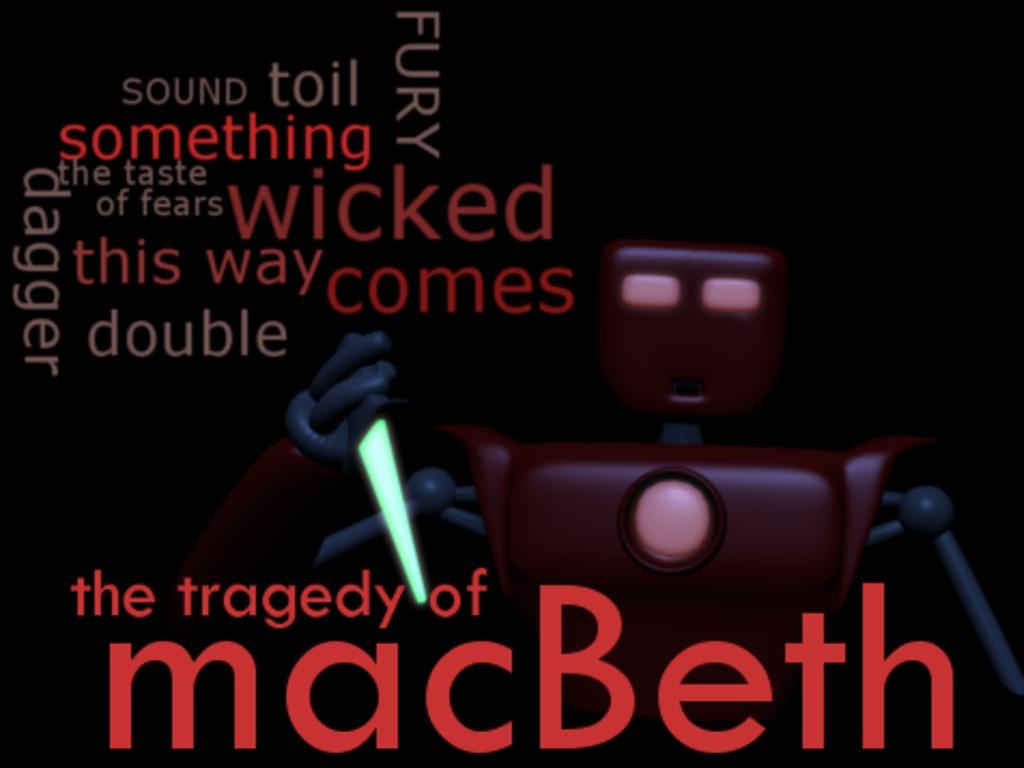 CGI Macbeth's video poster