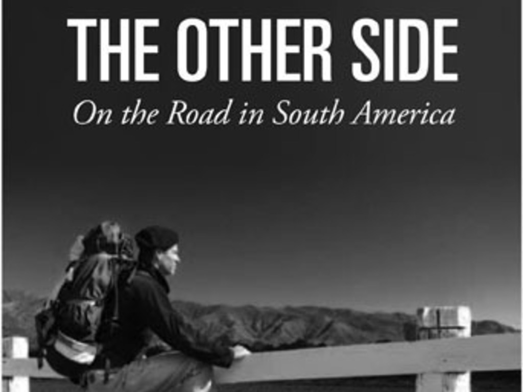 """The Other Side, On the Road in South America"" a book's video poster"
