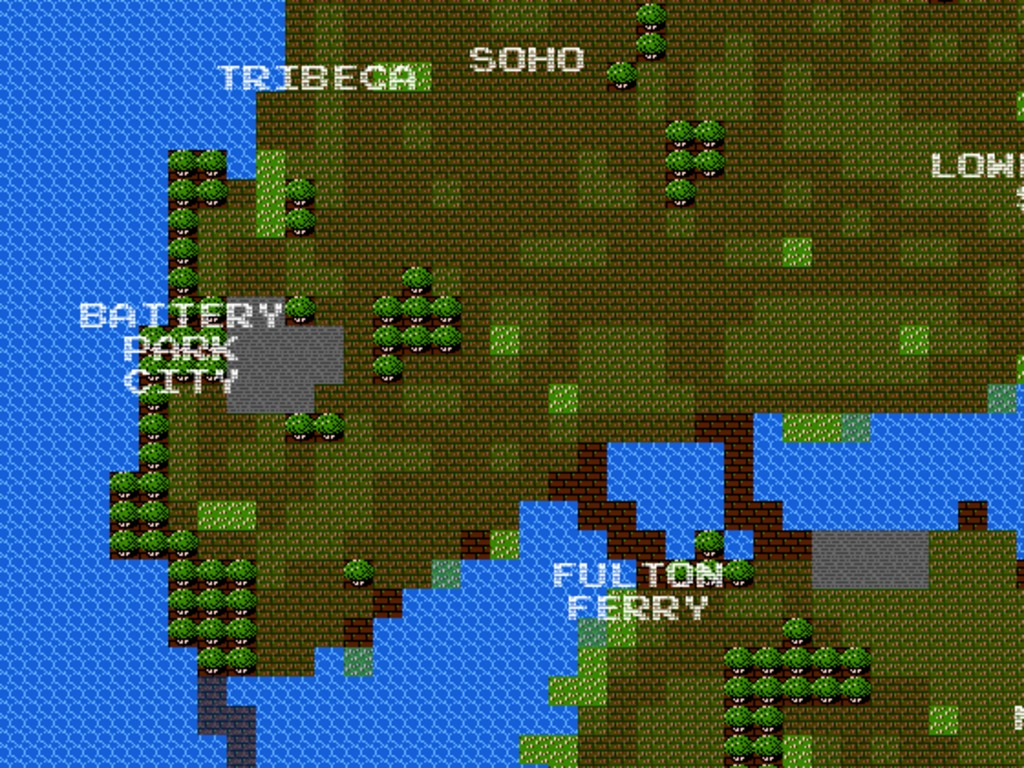 8-Bit Cities: real-world maps that look like 80s video games's video poster