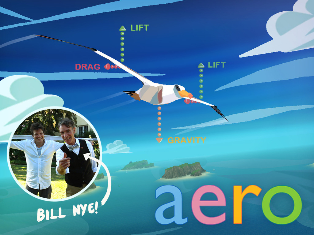 AERO 3D Bird Flight Game with Bill Nye and GameDesk's video poster
