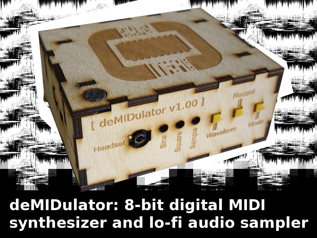 deMIDulator: 8-bit MIDI synthesizer & lo-fi audio sampler's video poster