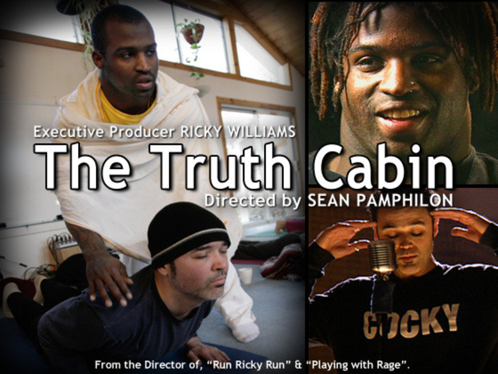 The Truth Cabin: A gonzo journalism meditation on a NFL Star's video poster