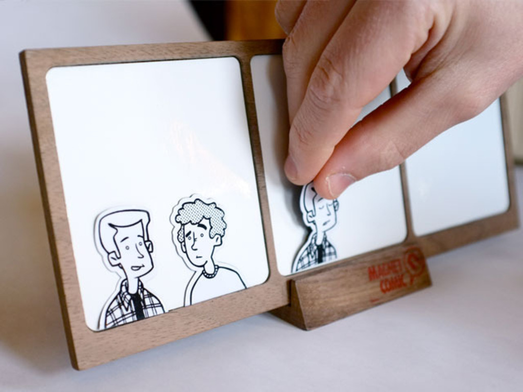 Magnet Comic: A Custom Magnetic & Dry-Erase Comic Strip's video poster