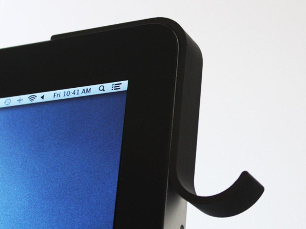 Machook. Headphone hook for iMac.'s video poster
