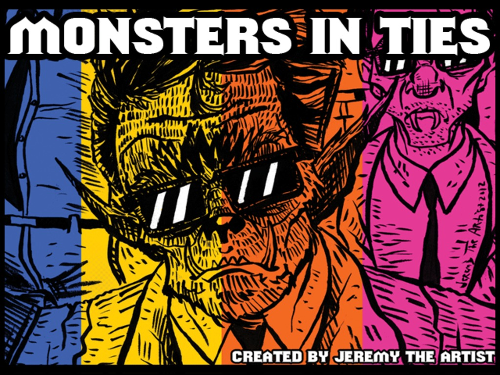 """Monsters In Ties"" Graphic Novel's video poster"