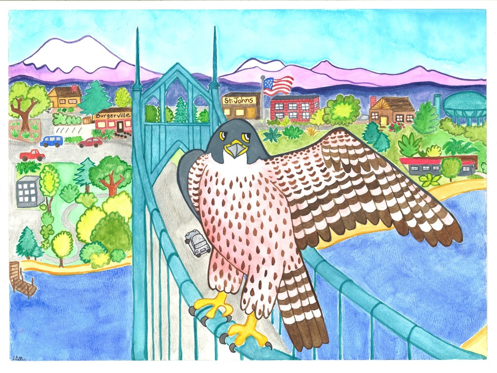 """""""Falcons in the City"""" Children's Picture Book's video poster"""