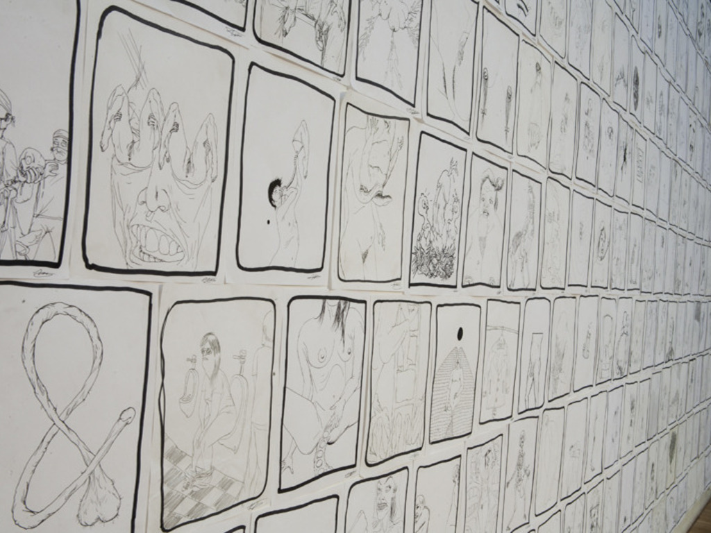 publish 100 drawings by Mitsu Okubo's video poster