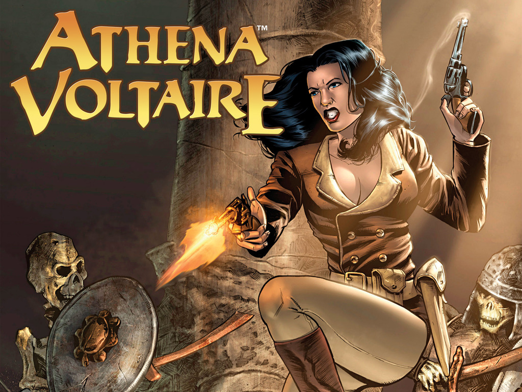 ATHENA VOLTAIRE and the Volcano Goddess - A Comic Book Project's video poster