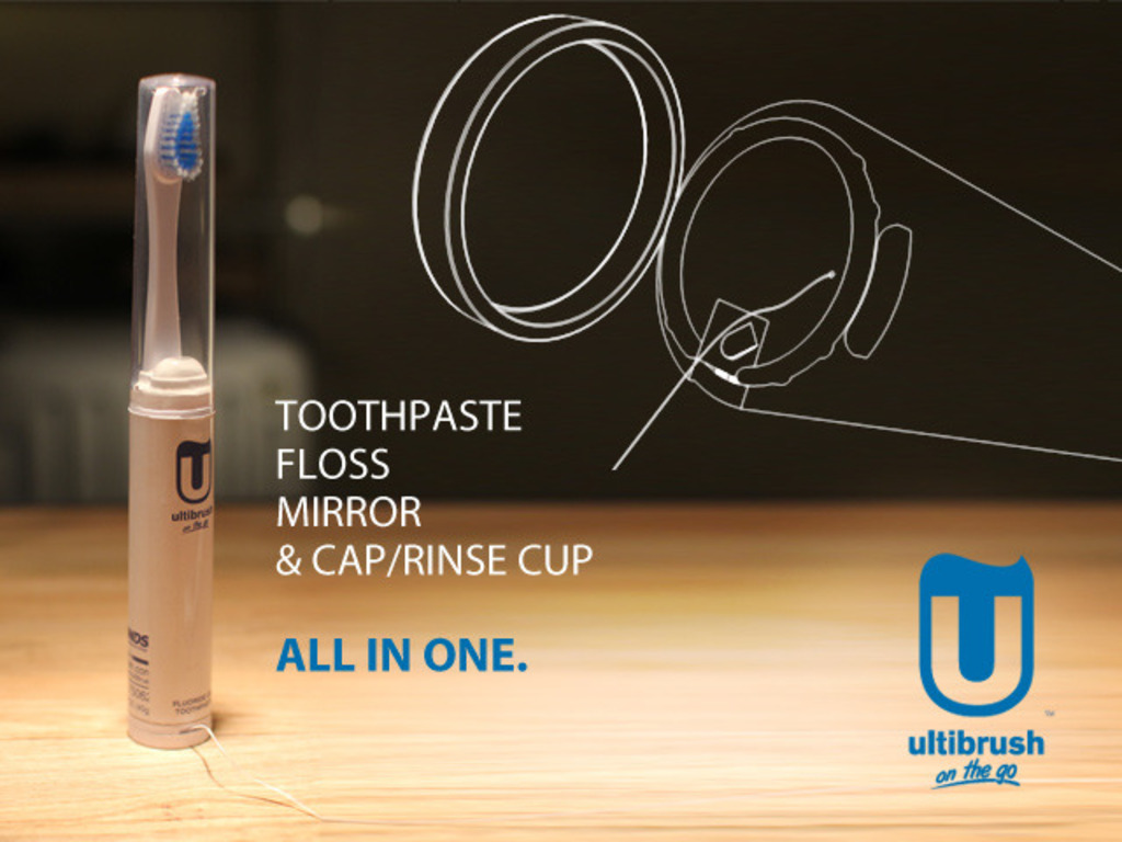 UltiBrush - the all in one toothbrush for those on-the-go's video poster