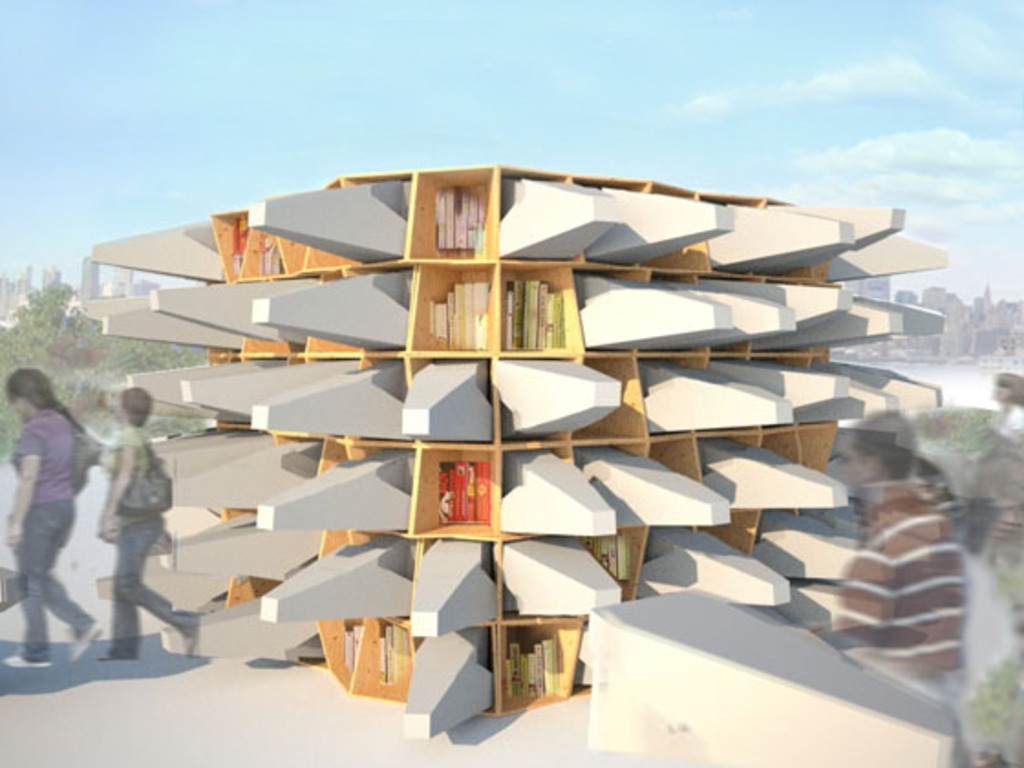 The Uni: a portable, open-air reading room for public space's video poster