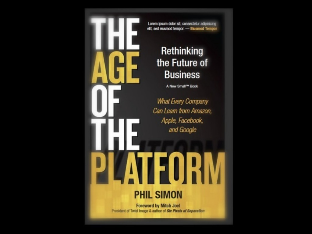 The Age of the Platform: My Fourth Book's video poster