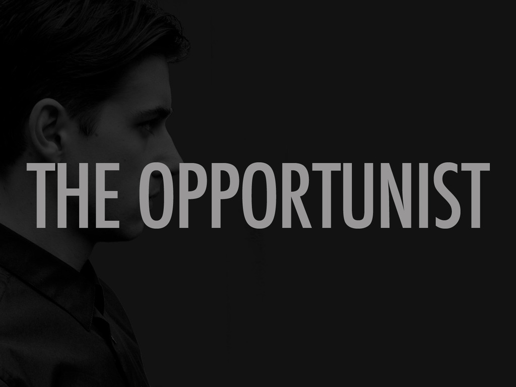 The Opportunist's video poster