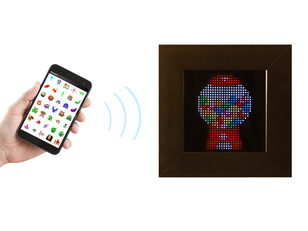 PIXEL: Interactive LED Art's video poster