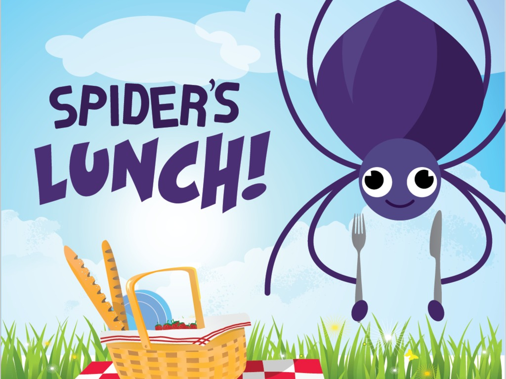 bloomzoom literacy apps: Spider's Lunch's video poster
