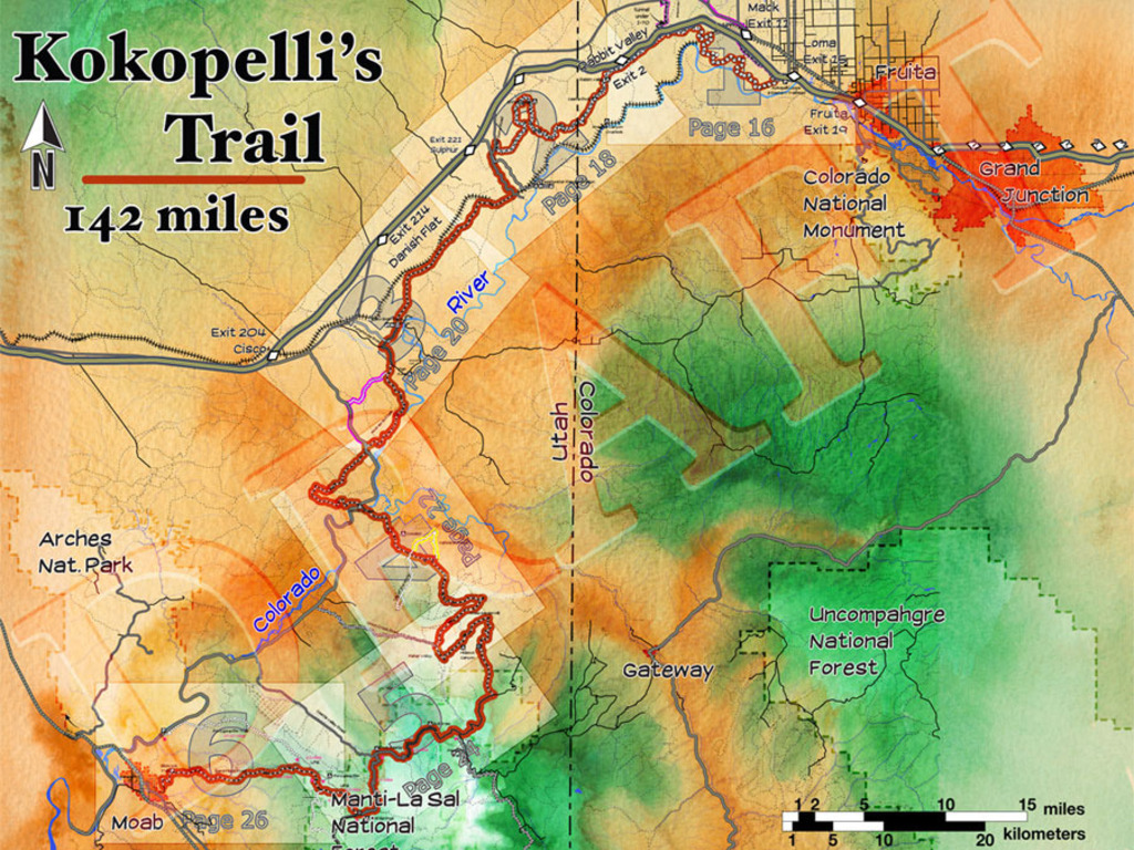 Guide book for Kokopelli's Trail's video poster