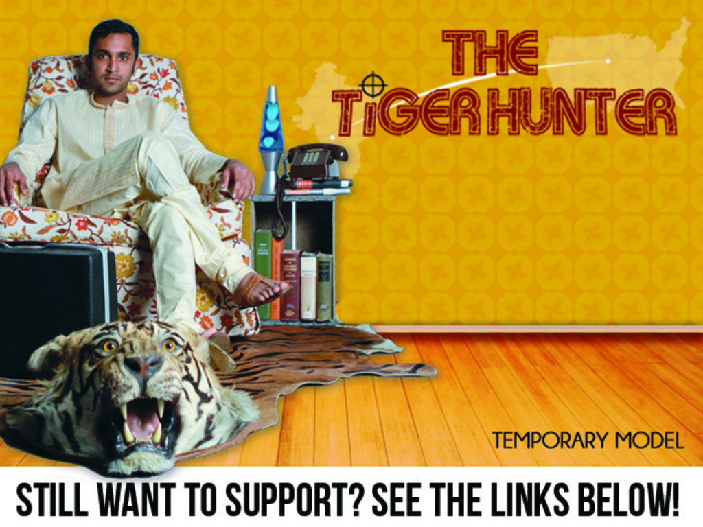 The Tiger Hunter - a feature film's video poster