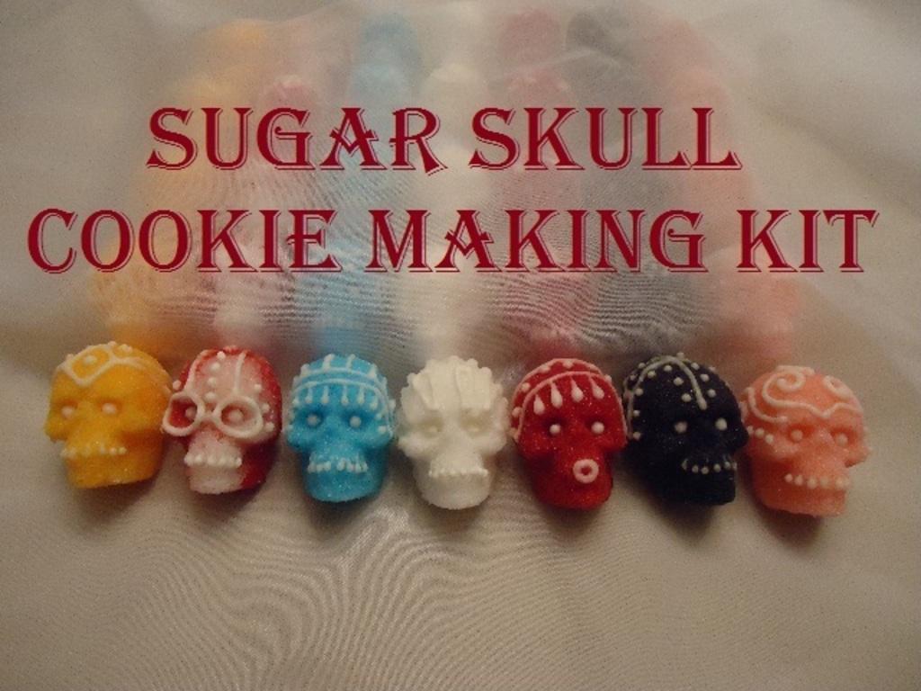 Sugar Skull Cookie Making Kit's video poster