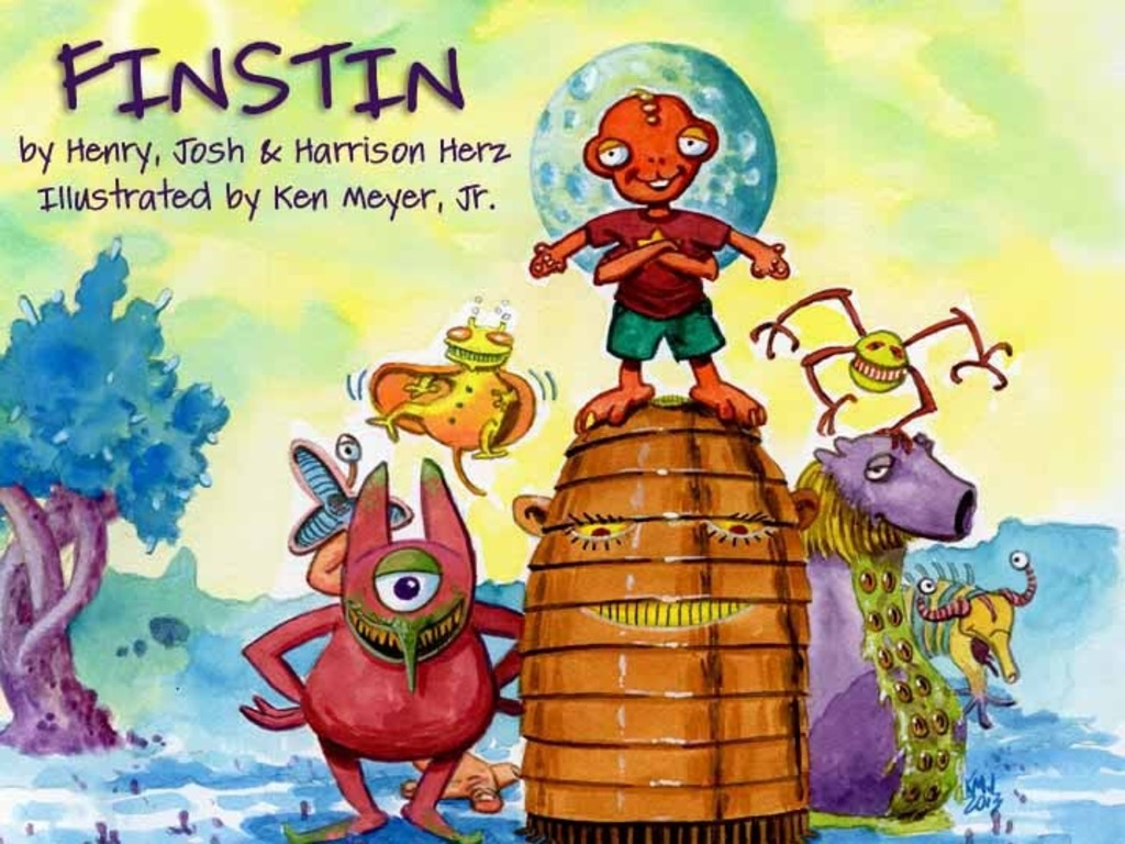 Finstin - science fiction picture book for little geeklings's video poster