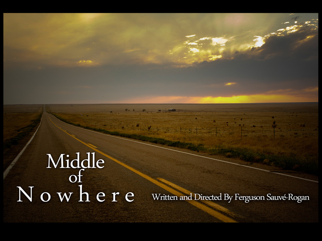 """""""Middle of Nowhere"""" Feature Film's video poster"""