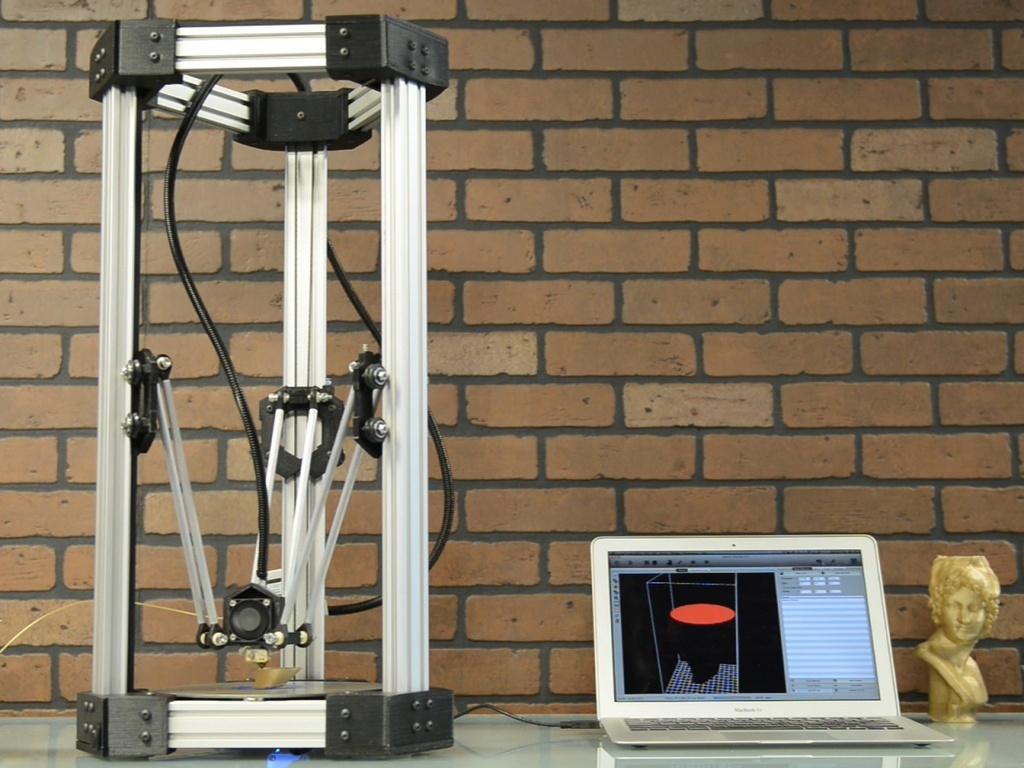 DeltaMaker: An Elegant 3D Printer's video poster