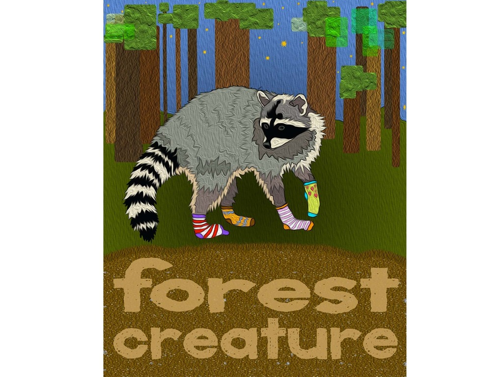 A collaborative project called Forest Creature!'s video poster