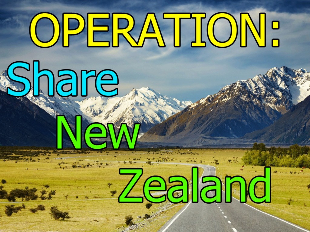 Operation: Share New Zealand's video poster