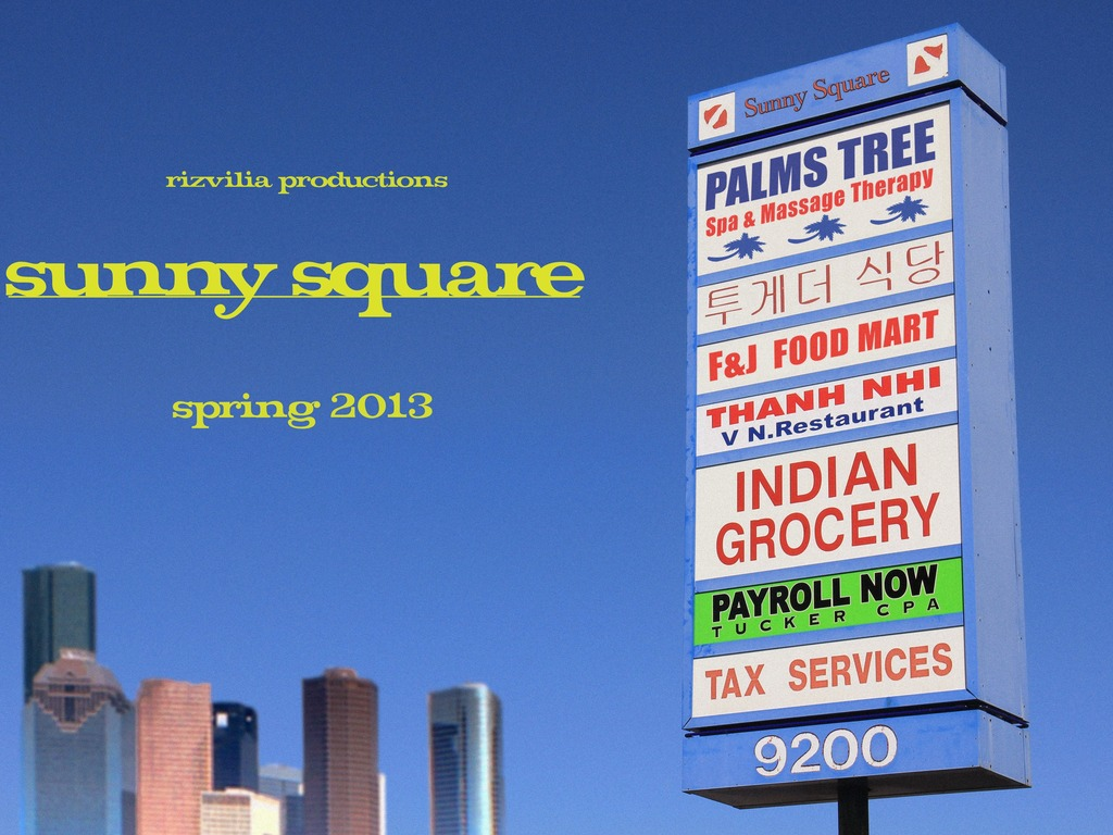 Sunny Square - a short film's video poster