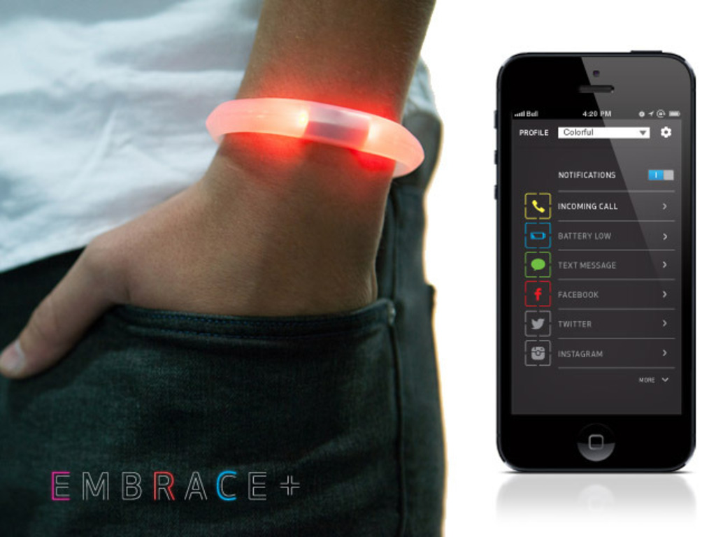 EMBRACE+, a smart piece of wearable technology's video poster