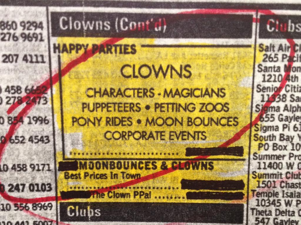 Clown Service's video poster