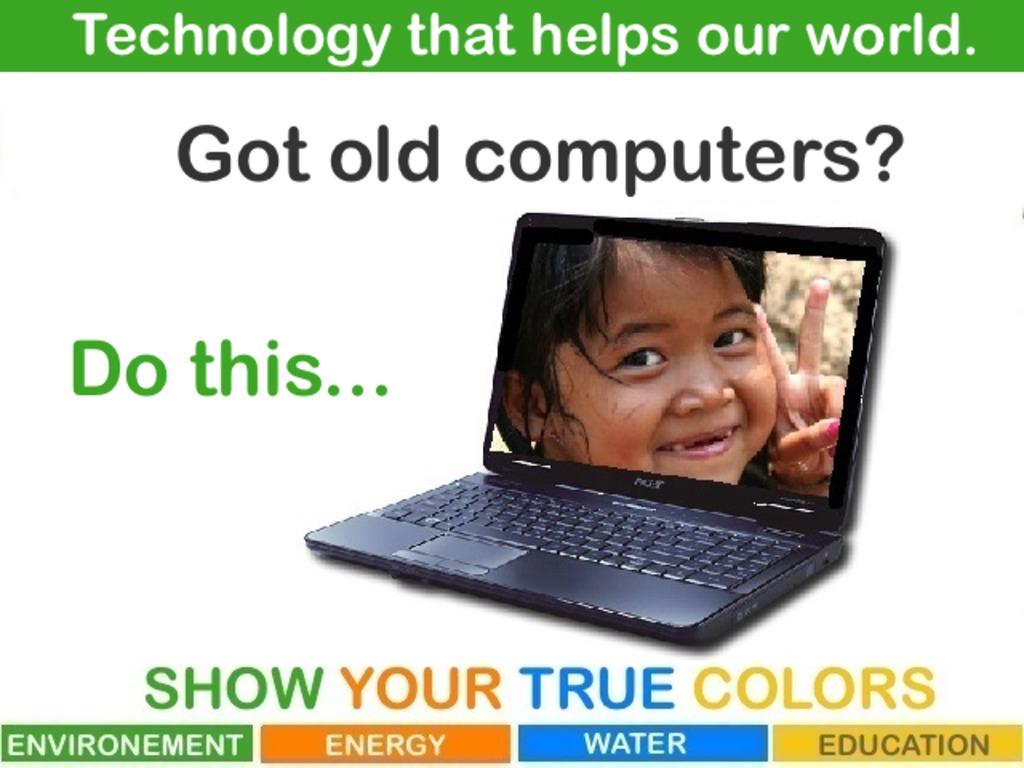 Got an old computer?  Fill minds, not landfills! Pass IT On!'s video poster