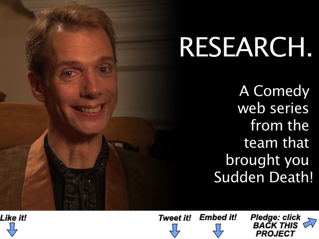 Research. - A Web Series's video poster