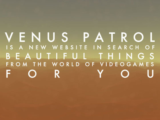 VENUS PATROL: charting a new course for videogame culture's video poster