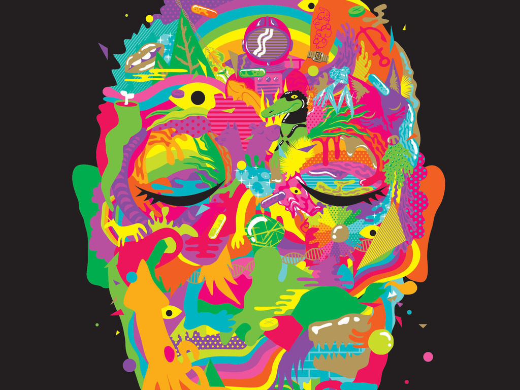 A GREATER MONSTER, a psychedelic tale by David David Katzman's video poster