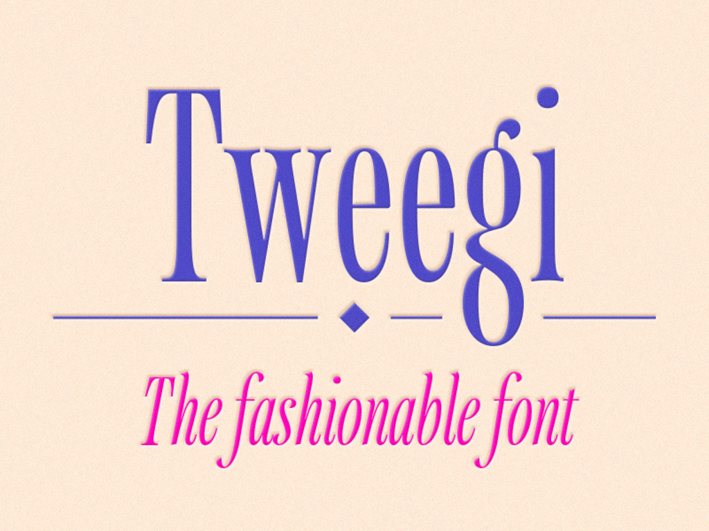 Tweegi, the fashionable font.'s video poster