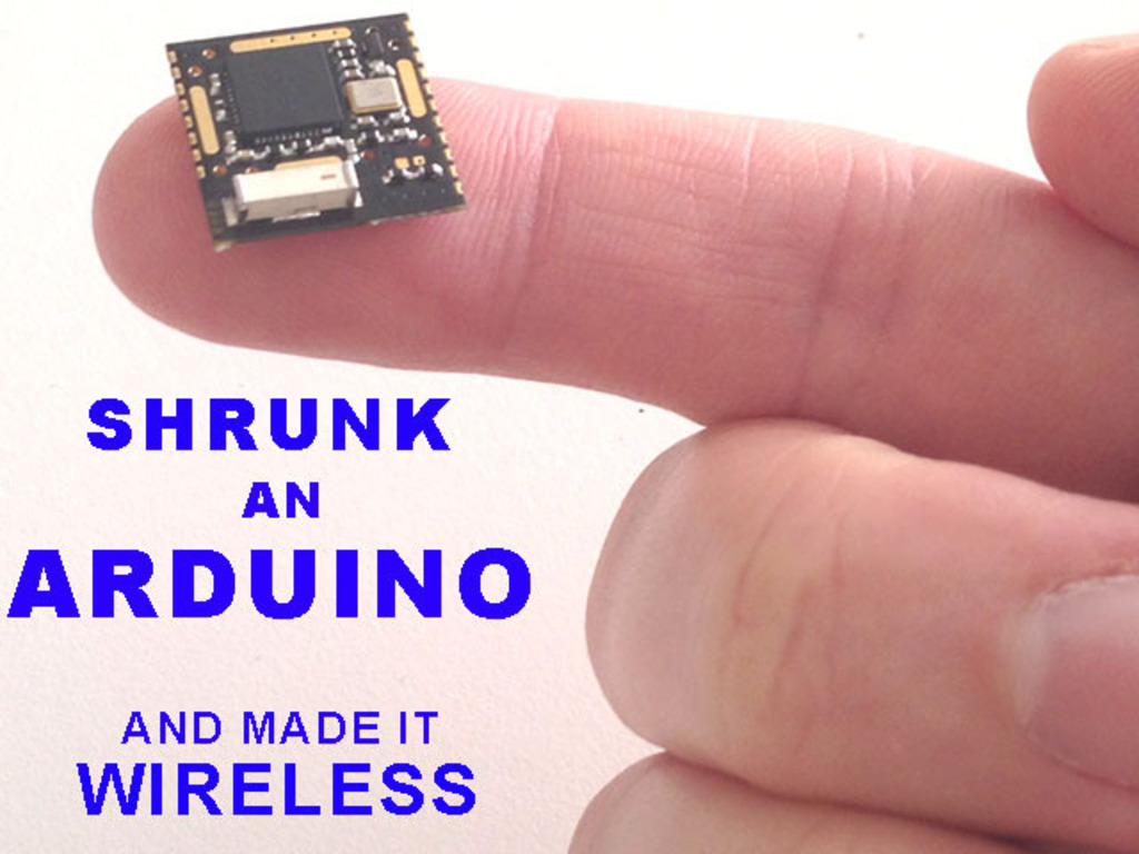 Shrunk down an Arduino to the size of a finger-tip!'s video poster
