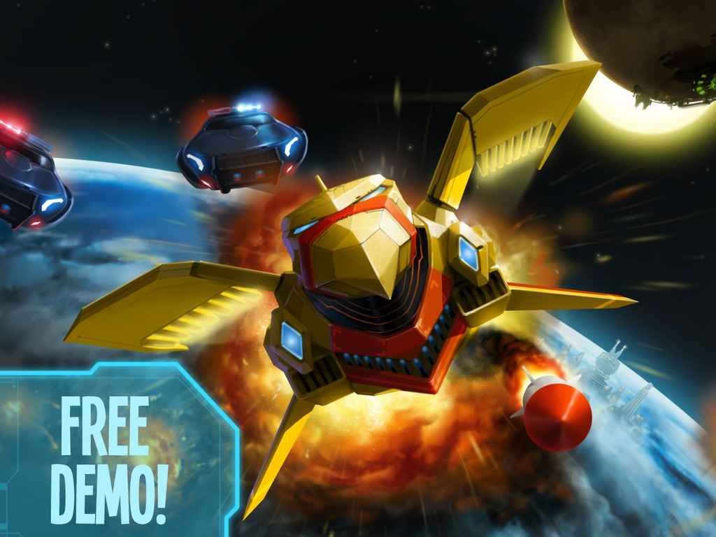 Humans Must Answer - An explosive 2D shmup's video poster