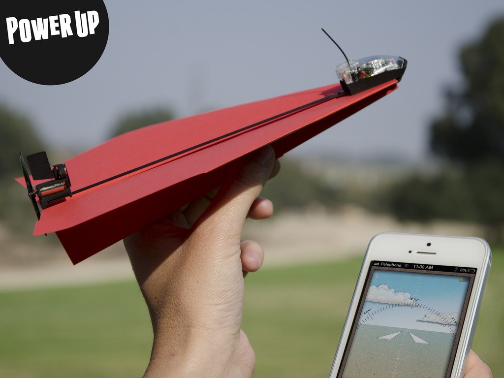 PowerUp 3.0 - Smartphone Controlled Paper Airplane's video poster