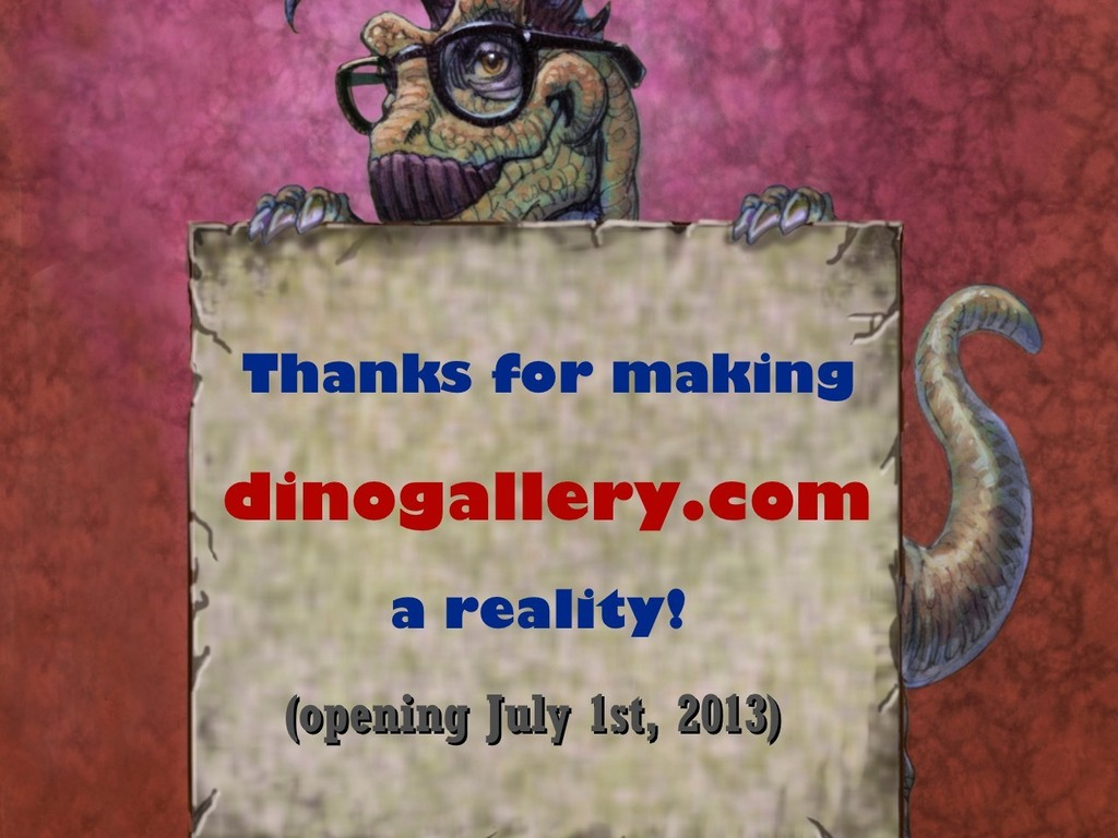 Opening an online-gallery for great Dinosaur Art and Artists's video poster