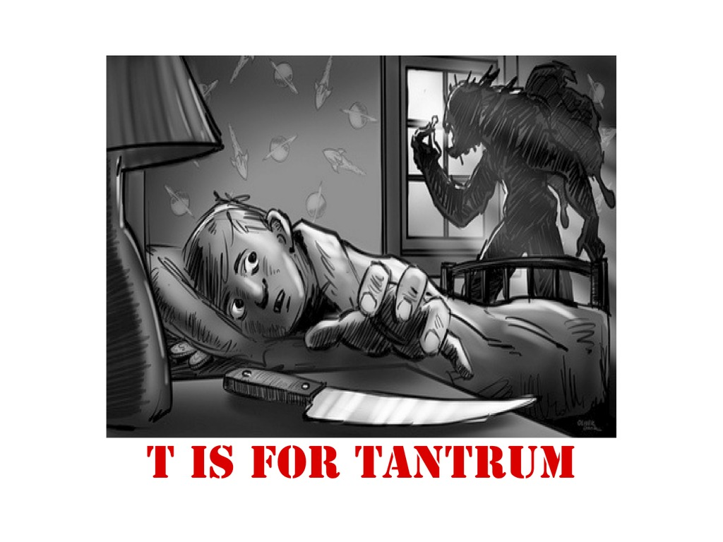 """""""T IS FOR TANTRUM"""" - HORROR/COMEDY's video poster"""