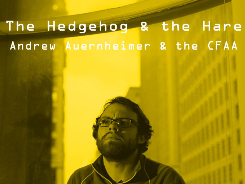 The Hedgehog & The Hare - Documentary Project on the CFAA's video poster