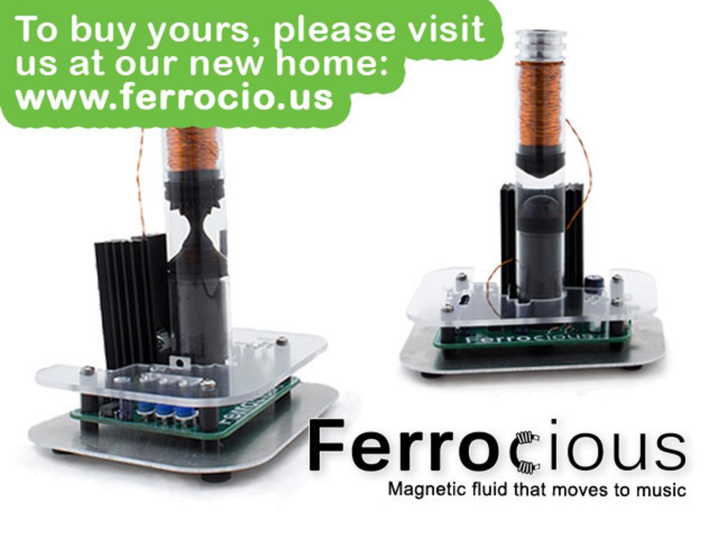 Ferrocious: the ferrofluid sculpture that dances to sound's video poster