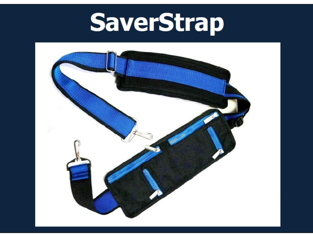 SaverStrap: The world's best equipped shoulder strap.'s video poster