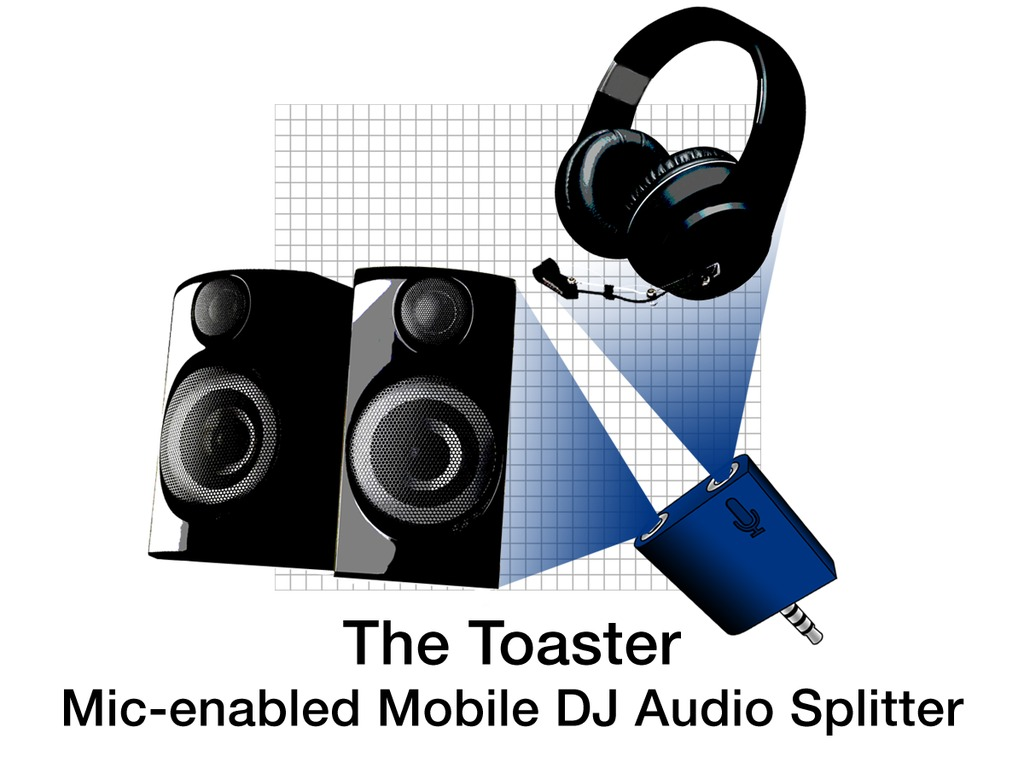The Toaster - Mic-enabled Mobile DJ Audio Splitter's video poster
