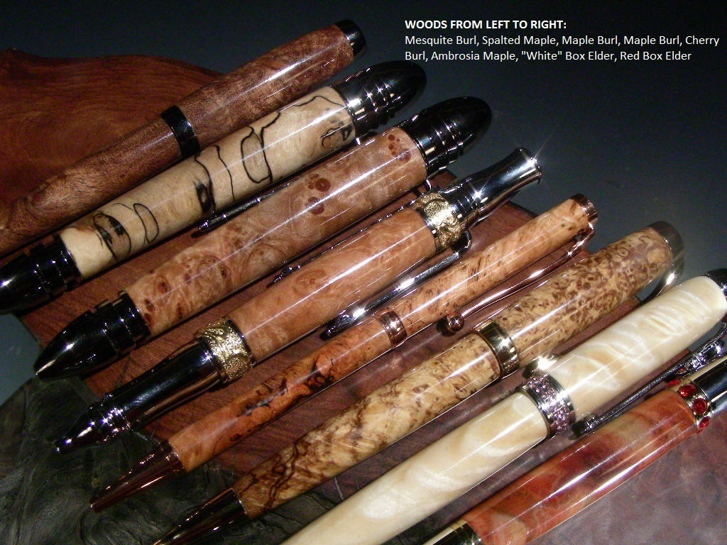 Hand Turned Wood Pens from Burls & Other Specialty Woods's video poster