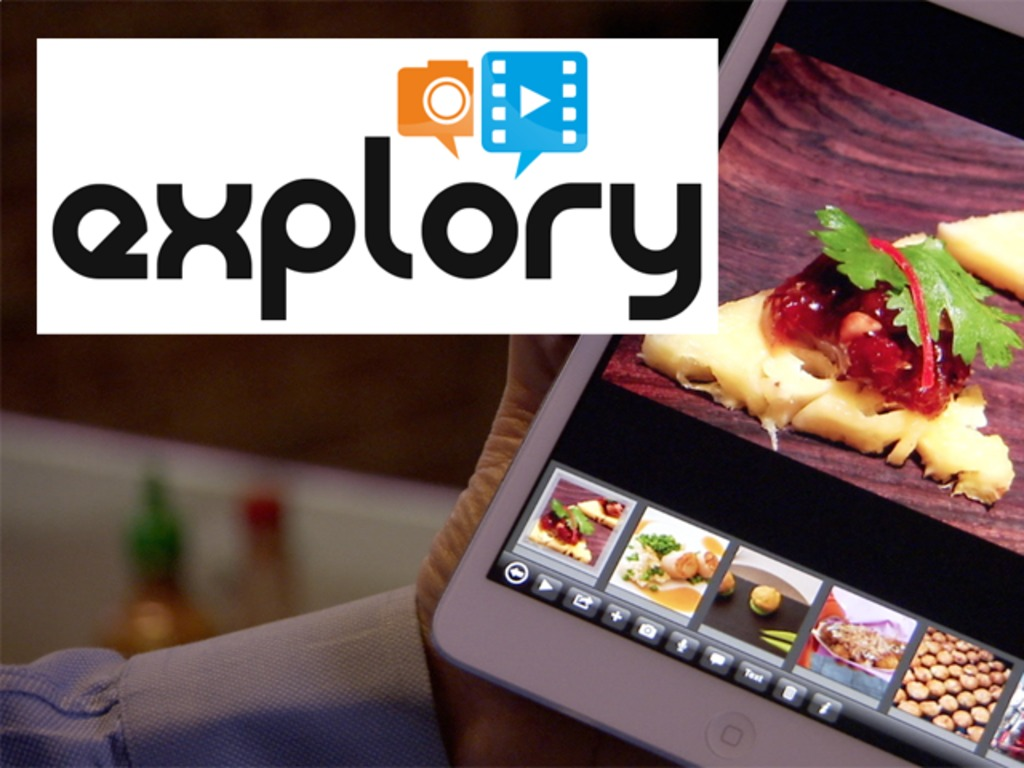 Explory - A mobile storytelling app by the creators of Flash's video poster