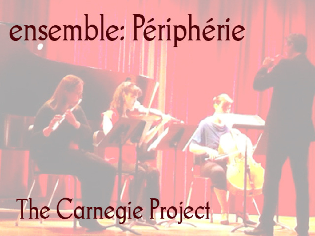 Ensemble: Périphérie Carnegie Hall Project's video poster